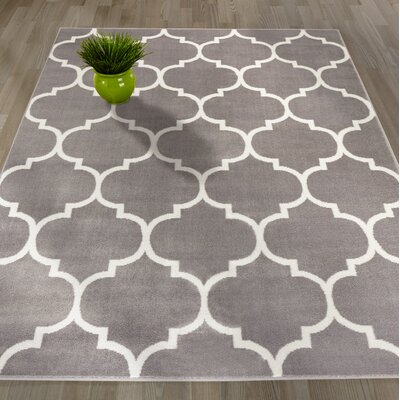 Royal Gray Area Rug Rug Size: 7'10
