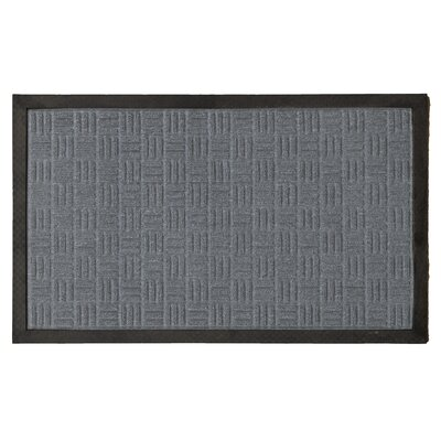 Carpeted Rubber Outdoor Doormat Color: Charcoal, Rug Size: 2 x 3