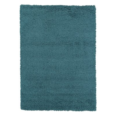Christiane Plush Shaggy Turquoise Area Rug