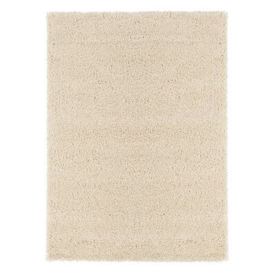 Christiane Plush Shaggy Ivory Area Rug