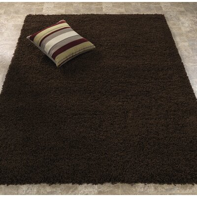 Ultimate Shaggy Dark Brown Solid Area Rug Rug Size: 33 x 47