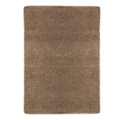 Christiane Plush Shaggy Beige Area Rug