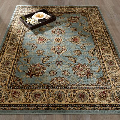 Royal Blue/Brown Area Rug Rug Size: 710 x 910