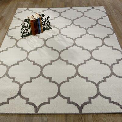 Royal Moroccan Trellis Design Area Rug Rug Size: 53 x 7