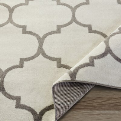 King Cream Area Rug Rug Size: 5'3