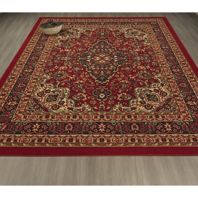 Ryan Red Area Rug Rug Size: Rectangle 3'3