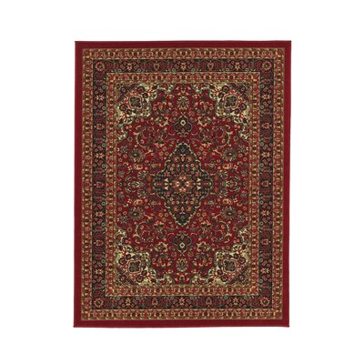 Ryan Red Area Rug Rug Size: Rectangle 5 x 7