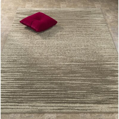 Casa Faux Leather Beige Area Rug Rug Size: 53 x 73