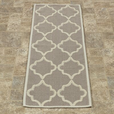 Bernadette Nature Cotton Gray Area Rug Rug Size: Runner 18 x 411