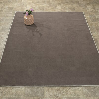 Taelyn Nature Cotton Solid Brown Area Rug Rug Size: 27 x 6