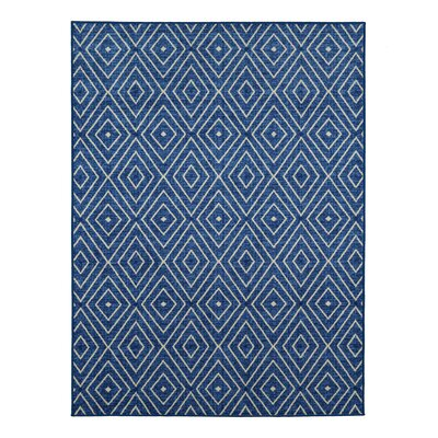 Heikkinen Diamonds Blue Area Rug Rug Size: 5 x 6