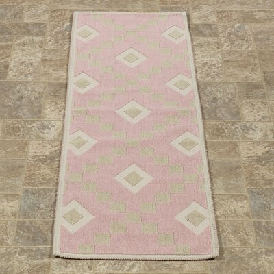 Heim Nature Cotton Diamond Pink Area Rug Rug Size: Runner 18 x 411