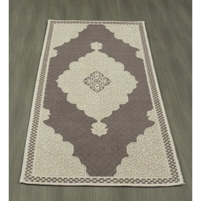 Kamila Nature Cotton Brown/Beige Area Rug Rug Size: 27 x 6