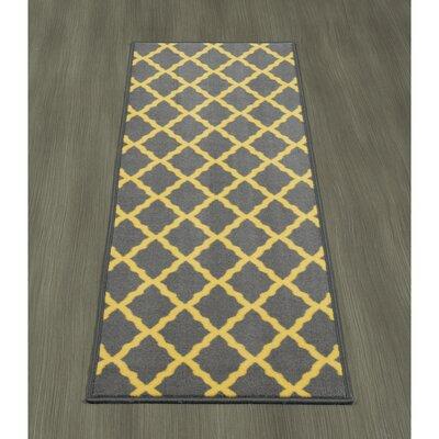 Heikkinen Moroccan Trellis Gray/Yellow Area Rug Rug Size: Runner 18 x 411