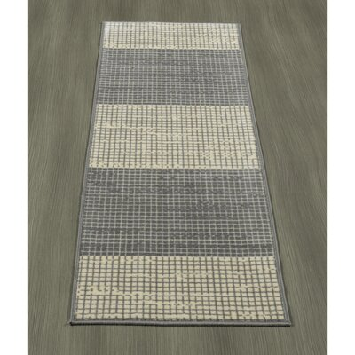 Heikkinen Layered Gray Area Rug Rug Size: Runner 18 x 411