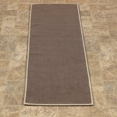 Taelyn Nature Cotton Solid Brown Area Rug Rug Size: Runner 18 x 411
