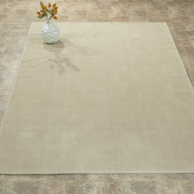Taelyn Nature Cotton Beige Area Rug Rug Size: 4 8 x 6 7