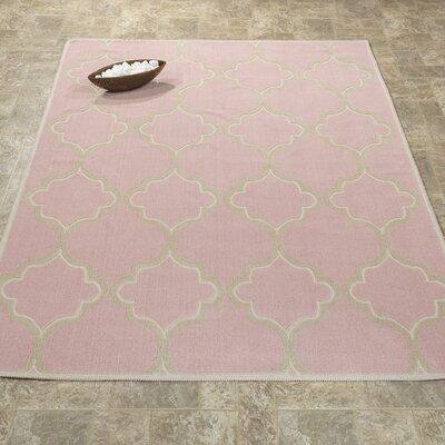 Bersum Nature Cotton Pink Area Rug Rug Size: 4 8 x 6 7