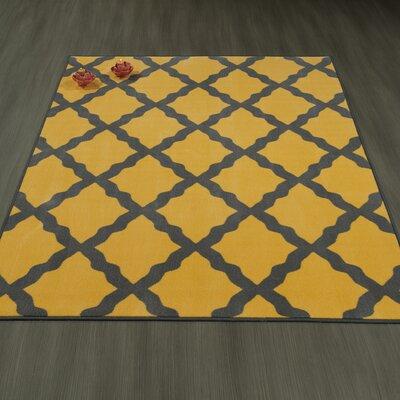 Heikkinen Moroccan Trellis Yellow/Brown Area Rug Rug Size: 5 x 6