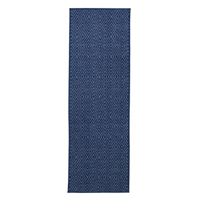 Vathylakas Diamonds Blue Area Rug Rug Size: Runner 1'8