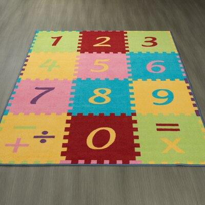 Childrens Garden Numbers Math Area Rug Size: 0.3 H x 98 W x 118 D