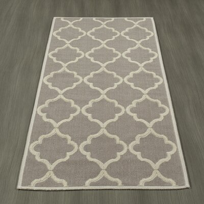 Bernadette Nature Cotton Gray Area Rug Rug Size: Runner 27 x 6