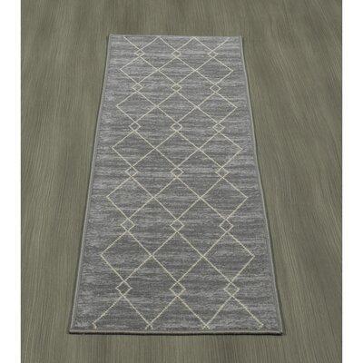 Heikkinen Diamond Gray Area Rug Rug Size: Runner 18 x 411