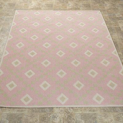 Heim Nature Cotton Diamond Pink Area Rug Rug Size: 27 x 6