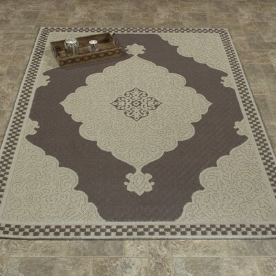 Kamila Nature Cotton Brown/Beige Area Rug Rug Size: 4 8 x 6 7