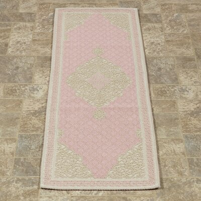 Kamila Nature Cotton Pink/Beige Area Rug Rug Size: 27 x 6