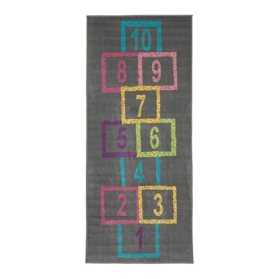 Childrens Garden Educational Hopscotch Area Rug