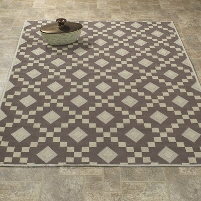 Heim Nature Cotton Diamond Trellis Brown/Beige Area Rug Rug Size: 27 x 6