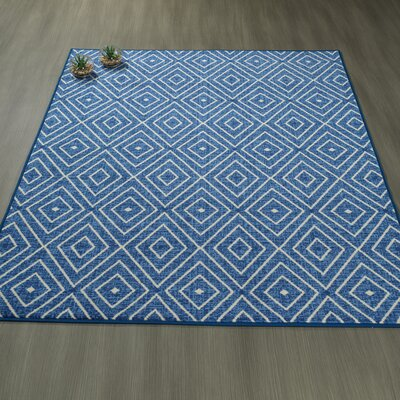 Heikkinen Diamonds Blue Area Rug Rug Size: 33 x 5
