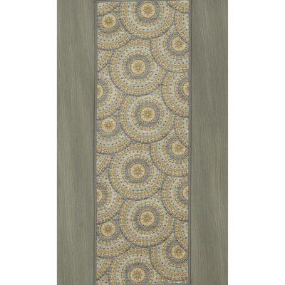 Rocio Mosaic Circle Gray/Beige Area Rug Rug Size: 5 x 6