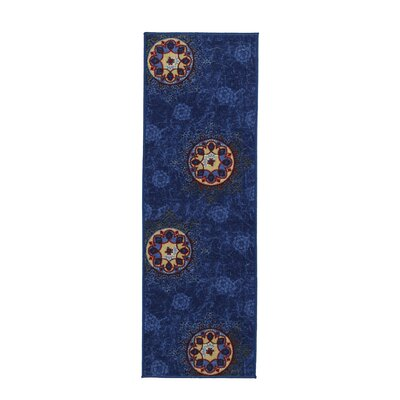 Deidra Floral Blue Area Rug Rug Size: 5 x 6