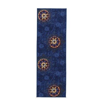 Deidra Floral Blue Area Rug Rug Size: Runner 18 x 411