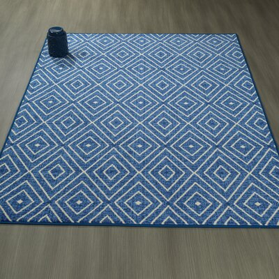 Heikkinen Diamonds Blue Area Rug Rug Size: 82 x 910