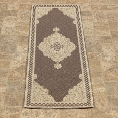 Kamila Nature Cotton Brown/Beige Area Rug Rug Size: Runner 18 x 411