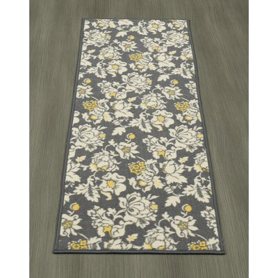 Tailynn Floral Gray/Cream Area Rug Rug Size: Runner 18 x 411