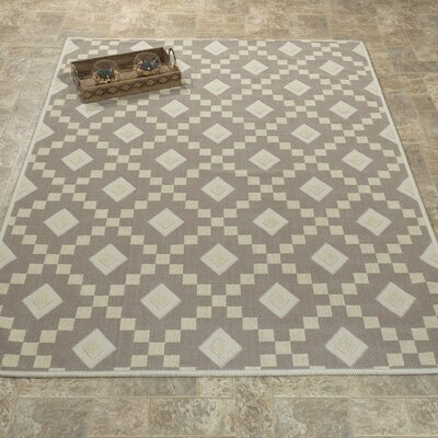 Heim Nature Cotton Diamond Trellis Brown/Cream Area Rug Rug Size: 4 8 x 6 7