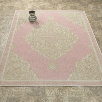 Kamila Nature Cotton Pink/Beige Area Rug Rug Size: 5 x 7