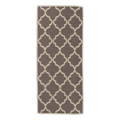 Bernadette Nature Cotton Brown Area Rug Rug Size: Runner 27 x 6