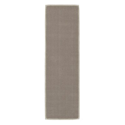 Taelyn Nature Cotton Solid Light Brown Area Rug Rug Size: 27 x 6