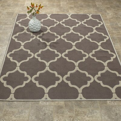 Bersum Nature Cotton Brown Area Rug Rug Size: 4 8 x 6 7