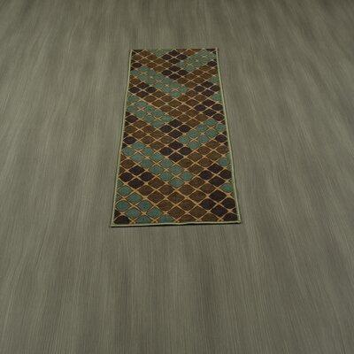 Rocio Squares Aqua/Brown Area Rug Rug Size: 5 x 6