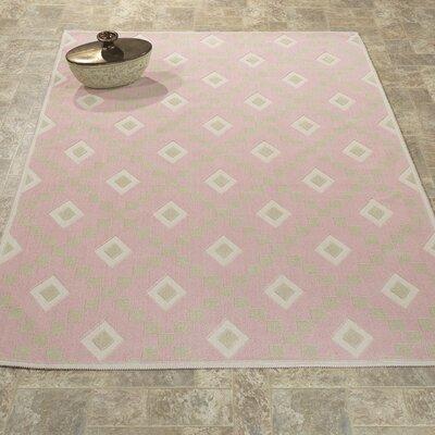 Heim Nature Cotton Diamond Pink Area Rug Rug Size: 4 8 x 6 7