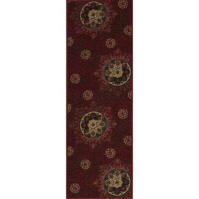 Deidra Floral Red Area Rug Rug Size: Runner 18 x 411