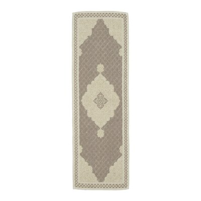 Kamila Nature Cotton Beige/Gray Area Rug Rug Size: Runner 1'8