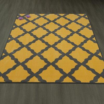 Heikkinen Moroccan Trellis Yellow/Brown Area Rug Rug Size: 33 x 5