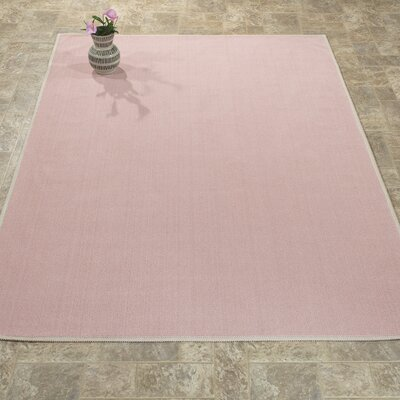 Taelyn Nature Cotton Solid Pink Area Rug Rug Size: 4 8 x 6 7